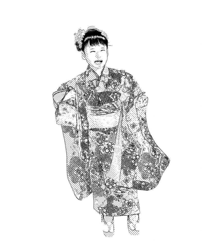 北九州小倉北区にある老舗の貸衣装屋さん「レンタルきもの まい舞」の着物です。