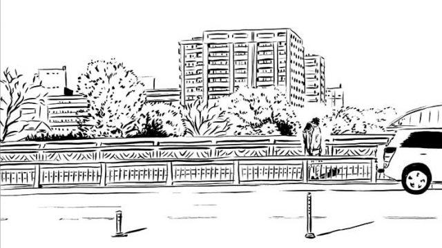 【舞台紹介】熊本県熊本市 市街地 泰平橋 白川